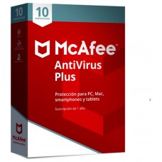 MCAFEE ANTIVIRUS PLUS 2019 MULTIDISPOSITIVO (10
