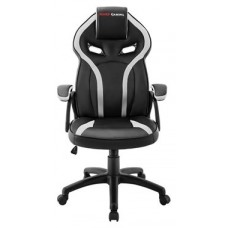 MARS GAMING MGC118 WHITE GAMING CHAIR, ARMREST CUSHION, GAS-LIFT CLASS 4 (Espera 4 dias)