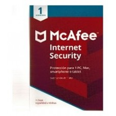 MCAFEE INTERNET SECURITY 2019 1 DISPOSITIVO 1 ano