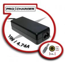 Carg. 19V/4.74A 5.5mm x 3.0mm 90w Pro Charger (Espera 2 dias)