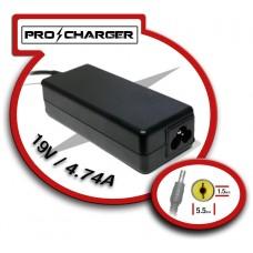Carg. 19V/4.74A 5.5mm x 1.5 mm 90W Pro Charger (Espera 2 dias)