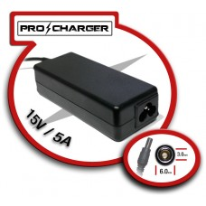 Carg. 15V/5A 6.0mm x 3.0 mm 75w Pro Charger