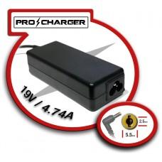 Carg. 19V/4.74A 5.5mm x 2.5mm 90w Pro Charger (Espera 2 dias)