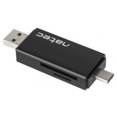 LECTOR DE TARJETAS NATEC EARWIG SD MICROSD USB 2.0 USB-C