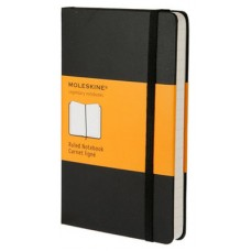 MOLESKINE NOTEBOOK LARGE RULED BLACK HARD COVER