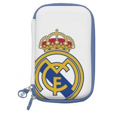 Real Madrid Funda Disco Duro 3.5 Blanca Escudo