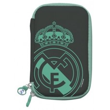 Real Madrid Funda Disco Duro 2.5 Negra Escudo