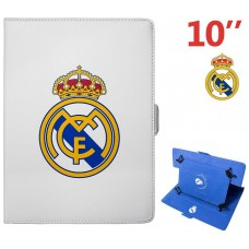 Real Madrid Funda Tablet 10 Blanca Escudo