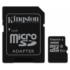 TARJETA DE MEMORIA MICRO SD 32GB KINGSTON CANVAS CL10 UHS-I