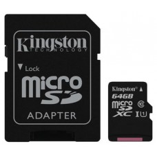 MEMORIA MICRO SD 64GB CLASE 10 SDHC KINGSTON (Espera 4 dias)