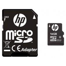 MEM MICRO SDHC 16GB HP CL10 U1 NEGRO+ADAPTADOR SD