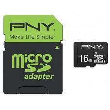 PNY - Tarjeta MicroSD 16GB + Adaptador - Clase 10 - (Espera 3 dias)