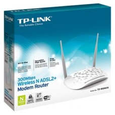MODEM ROUTER WIFI ADSL2+ TP-LINK W8961N 300MB 4P ETH