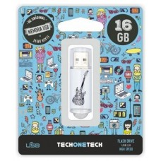 PENDRIVE TECH1TECH-CRAZY BLACK GUITAR 16GB