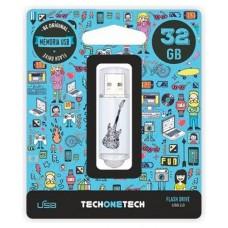 MEMORIA USB TECH ONE TECH CRAZY BLACK GUITAR 32 GB