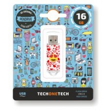 PENDRIVE TECH1TECH-EMOJIS HE 16GB