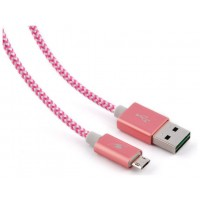 CABLE USB BLUESTORK MICRO USB 1,2M TRENDY ROSA