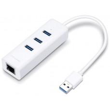 ADAPTADOR TP-LINK USB 3,0 A ETHERNET GIGA CON 3 PORT USB 3,0