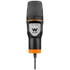 Woxter Mic-Studio Micrófono de estudio Alámbrico Negro, Naranja