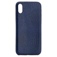 X-One Funda Tipo Cuero  iPhone X Azul