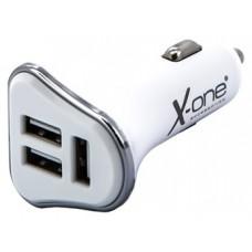 X-One cargador coche 3x USB 5V / 3.1A Blanco